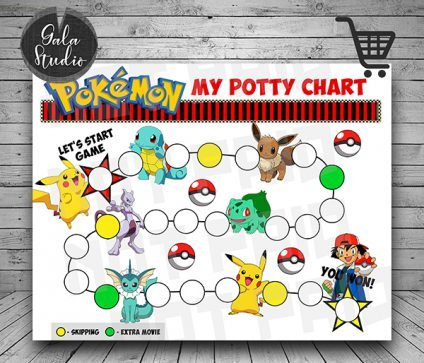 Pokemon Potty Training reward chart printable PDF, Pokemon Potty training guide, Reward charts for kids, My potty chart reward printable
