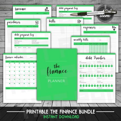 Finance Planner Bundle, Planner, Budget Planner, Finance Planner, Printable Planner, Debt Tracker, A5 Planner Inserts, Budget Planner Book