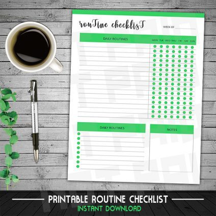 Daily Routine Planner, Routine Checklist, Daily, Daily Rituals, Routine Chart, Habit Chart, Night Time Routine, Weekly Chart, Regular