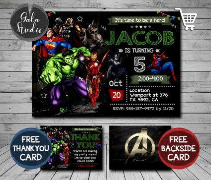 Superhero Invitation, Superhero Party Invitation, Superhero Invitations, Superhero Invite