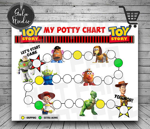 Toy Story Potty Training reward chart printable PDF, Toy Story Potty training guide, Reward charts for kids, My potty chart reward printable