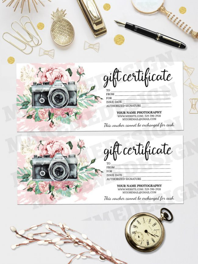 Photography Gift Certificate Template, Photography Gift Card Template, Photo Gift Cards, Photography Voucher, Gift Card Photography