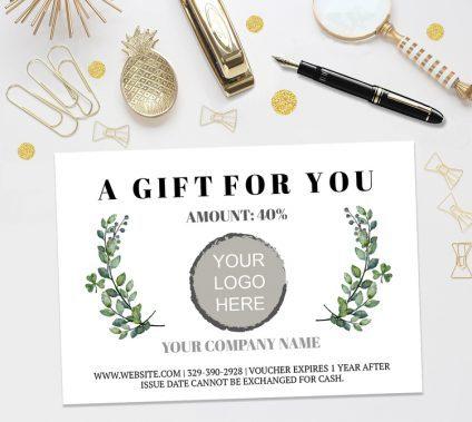 Gift Certificate Template, Gift Voucher Template, Editable Gift Certificate Template, Printable Gift Certificate, Digital Gift Certificate