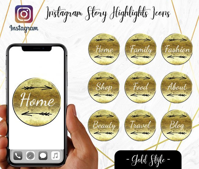 You Edit! Instagram Story Highlight Icons, Custom Instagram Story Highlight Icons 5x, Custom Icons, Gold Icons Instagram Highlight Covers