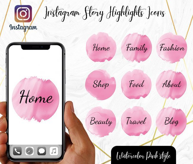 You Edit! Instagram Story Highlight Icons, Custom Instagram Story Highlight Icons 5x, Custom Icons, Pink Icons Instagram Highlight Covers