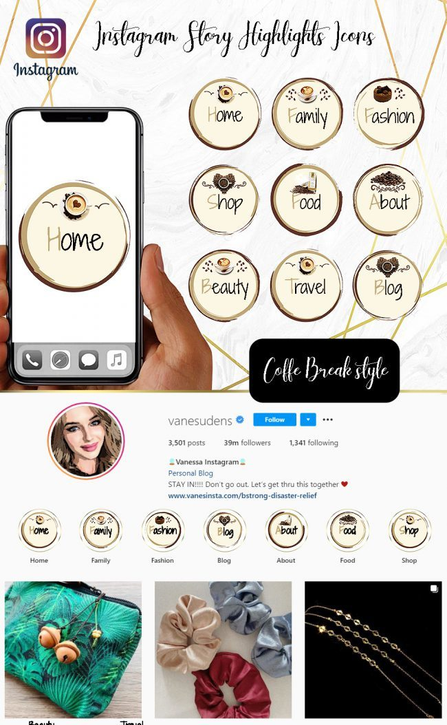 You Edit! Instagram Story Highlight Icons, Custom Instagram Story Highlight Icons 5x, Custom Icons, Coffe Break Icons Instagram Highlight Covers