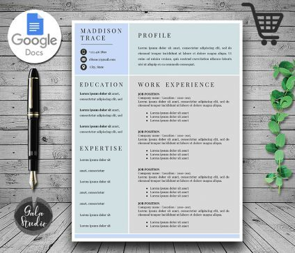 Resume and Cover Letter Template Google Docs, Resume Template for Google Docs, Instant Download Resume Templates, Minimalist Resume Pages