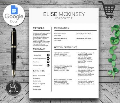 Resume Template, Resume Template for Google Docs, Professional Resume Template, Resume Template Word, Creative Resume Template, Modern Resume Template