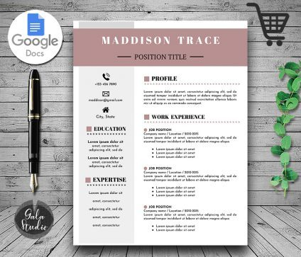 Google Docs Resume Template, Photo Resume Template Google Docs, Resume and Cover Letter Template, Modern Resume Template