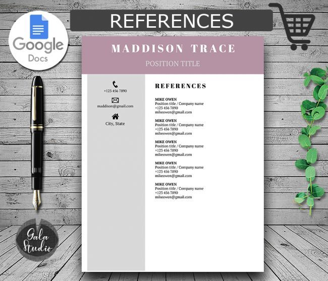 Google Docs Resume Template with Picture, Photo Resume Template Google Docs, Resume and Cover Letter Template, Modern Resume Template