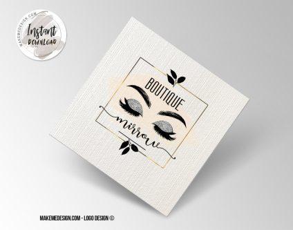 EyeLash Logo Design, Printable Business Card, Professional Logo Design, Minimalist Business Cards, Logo for Shop