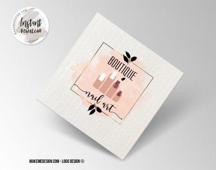 Nail Artist Logo Design, Printable Business Card, Professional Logo Design, Minimalist Business Cards, Logo for Shop