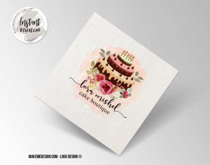 Bakery Logo Design, Printable Business Card, Professional Logo Design, Minimalist Business Cards, Logo for Shop