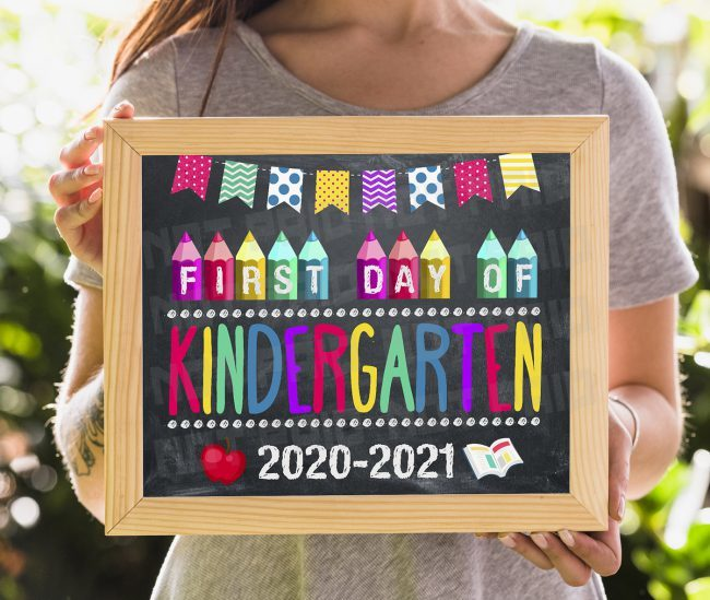 First Day of Kindergarten Sign, Printable First Day, Back To School Sign, First Day of School Chalkboard Sign, Kindergarten Sign