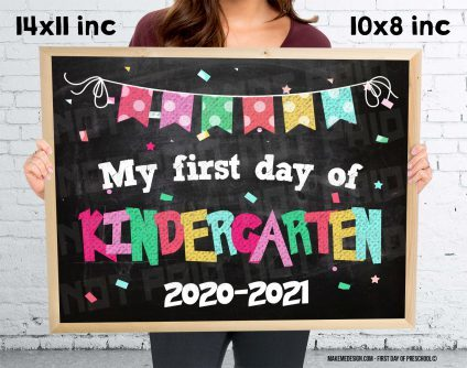 First Day Of Kindergarten,  Girl Kindergarten Sign,  Girl Day Of Kindergarten,  First Day Girl,  Photo Prop Girl,  First Day Of Girl