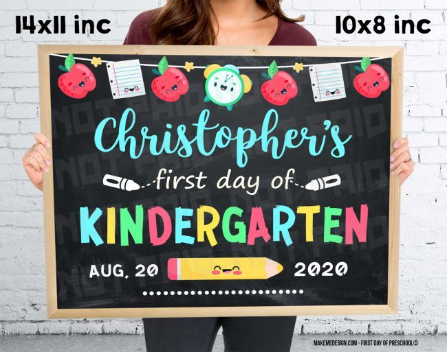 First Day Of Kindergarten,  First Day Classes,  Kindergarten Photo Prop,  Kindergarten Sign,  2020 Kindergarten Year