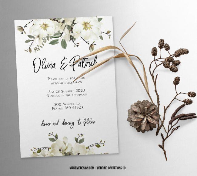 Wedding Invitation, Wedding Suite, Wedding Announcement, Bohemian Invite, Aesthetic Wedding
