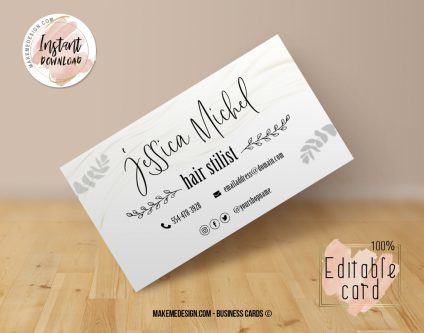 Minimalist Business Card, Design Business, Luxury Card, DIY Business Card, Editable Template