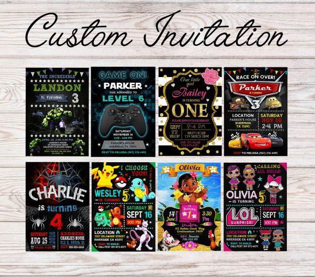 Custom Invitation Design, Personalized Invitation, Customized Invite, Birthday Invitation
