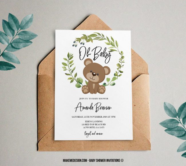 Custom Baby Shower Invitation Design, Personalized Baby Shower Invitation, Customized Baby Shower Invite