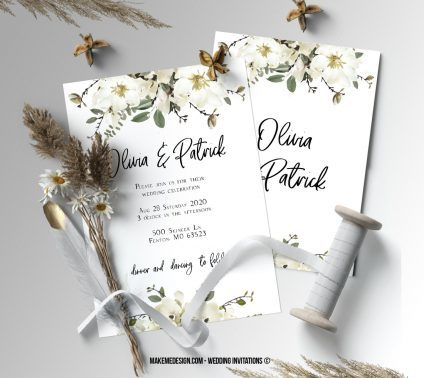 Wedding Invitation, Wedding Suite, Wedding Announcement, Bohemian Invite, Aesthetic Wedding
